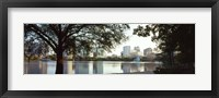 Framed Lake Eola, Orlando, Florida (black & white)