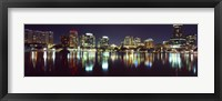 Framed Buildings at night, Lake Eola, Orlando, Florida