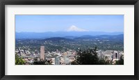 Framed High angle view of a city, Mt Hood, Portland, Oregon, USA 2010