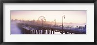 Framed Pier with ferris wheel in the background, Santa Monica Pier, Santa Monica, Los Angeles County, California, USA