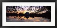 Framed Memorial at the waterfront, Jefferson Memorial, Tidal Basin, Potomac River, Washington DC