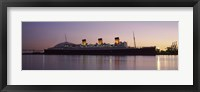 Framed RMS Queen Mary in an ocean, Long Beach, Los Angeles County, California, USA