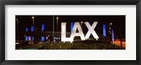 Framed Neon sign at an airport, LAX Airport, City Of Los Angeles, Los Angeles County, California, USA