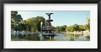 Framed Fountain in a park, Central Park, Manhattan, New York City, New York State, USA