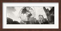 Framed Steel globe, Columbus Circle, Manhattan, New York City, New York State, USA