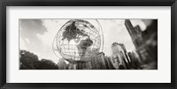 Framed Steel globe, Columbus Circle, Manhattan, New York City, New York State, USA