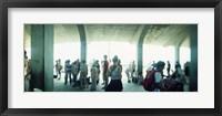 Framed Tourists on a boardwalk, Coney Island, Brooklyn, New York City, New York State, USA
