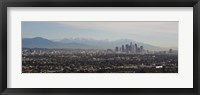 Framed High angle view of a city, Los Angeles, California