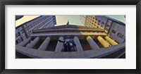 Framed Low angle view of a stock exchange building, New York Stock Exchange, Wall Street, Manhattan, New York City, New York State, USA