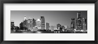 Framed City at the waterfront, Lake Erie, Detroit, Wayne County, Michigan, USA