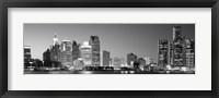 Framed City at the waterfront, Lake Erie, Detroit, Wayne County, Michigan, USA