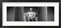 Framed Statue of Abraham Lincoln in a memorial, Lincoln Memorial, Washington DC
