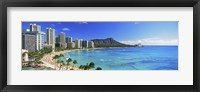 Framed Diamond Head, Waikiki Beach, Oahu, Honolulu, Hawaii