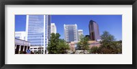 Framed Downtown modern buildings in a city, Charlotte, Mecklenburg County, North Carolina, USA 2011