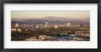 Framed Buildings in a city, Miracle Mile, Hayden Tract, Hollywood, Griffith Park Observatory, Los Angeles, California, USA