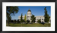 Framed Garden in front of Utah State Capitol Building, Salt Lake City, Utah, USA