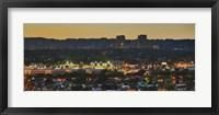 Framed Century City at dusk, Culver City, Los Angeles County, California