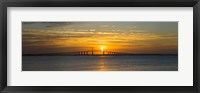 Framed Sunrise over Sunshine Skyway Bridge, Tampa Bay, Florida, USA