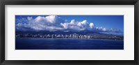 Framed City at the waterfront, Waikiki, Honolulu, Oahu, Hawaii, USA