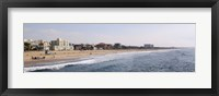 Framed Surf on the beach, Santa Monica Beach, Santa Monica, Los Angeles County, California, USA