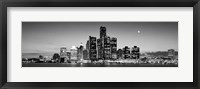 Framed Buildings at the waterfront, River Detroit, Detroit, Michigan, USA