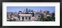 Framed Union Station with city skyline in background, Kansas City, Missouri, USA
