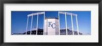 Framed Baseball stadium, Kauffman Stadium, Kansas City, Missouri, USA
