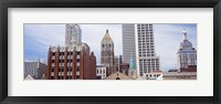 Framed Low angle view of downtown skyline, Tulsa, Oklahoma