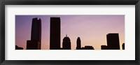 Framed Downtown skyline at dusk, Oklahoma City, Oklahoma, USA