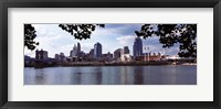 Framed City at the waterfront, Ohio River, Cincinnati, Hamilton County, Ohio