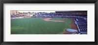 Framed Baseball stadium in a city, Durham Bulls Athletic Park, Durham, Durham County, North Carolina, USA