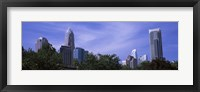Framed Low angle view of skyscrapers in a city, Charlotte, Mecklenburg County, North Carolina, USA