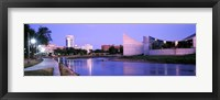 Framed Buildings at the waterfront, Arkansas River, Wichita, Kansas, USA