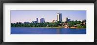 Framed Buildings at the waterfront, Arkansas River, Tulsa, Oklahoma