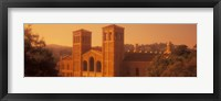 Framed Royce Hall at an university campus, University of California, Los Angeles, California, USA