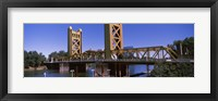 Framed Tower Bridge, Sacramento, CA , USA