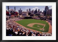 Framed Home of the Detroit Tigers Baseball Team, Comerica Park, Detroit, Michigan, USA