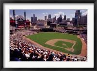 Framed Home of the Detroit Tigers Baseball Team, Comerica Park, Detroit, Michigan, USA