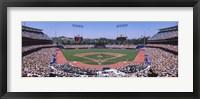 Framed Spectators watching a baseball match, Dodgers vs. Yankees, Dodger Stadium, City of Los Angeles, California, USA