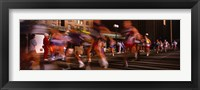 Framed Blurred Motion Of Marathon Runners, Houston, Texas, USA