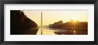 Framed Washington Monument, Washington DC, District Of Columbia, USA