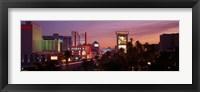 Framed Casinos At Twilight, Las Vegas, Nevada, USA