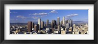 Framed Daylight Skyline, Los Angeles, California, USA