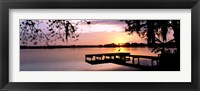 Framed Sunrise Over Lake Whippoorwill, Orlando, Florida, USA