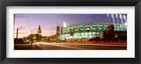 Framed Low angle view of a baseball stadium, Jacobs Field, Cleveland, Ohio, USA