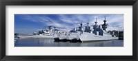 Framed Warships at a naval base, Philadelphia, Philadelphia County, Pennsylvania, USA