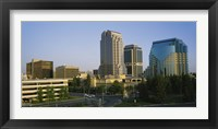 Framed Skyscrapers in a city, Sacramento, California, USA