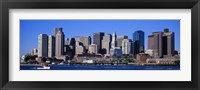 Framed Skyline, Cityscape, Boston, Massachusetts, USA,