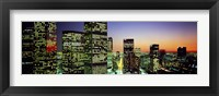 Framed Downtown Los Angeles CA USA