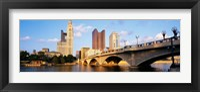 Framed Scioto River, Columbus, Ohio, USA